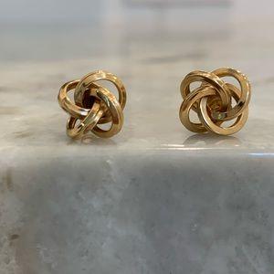 14k gold Love Knot Earrings